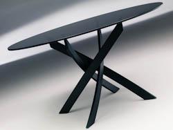 RONDETAFELS_Ronde tafel met blad in lakglas