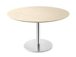 RONDETAFELS_Ronde tafel met blad in houtstructuur
