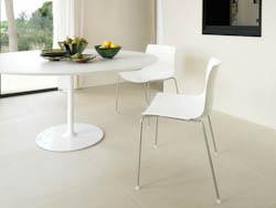 RONDETAFELS_Witte ronde tafel met centrale kolom