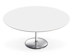 RONDETAFELS_Ronde tafel met gelakt mdf blad